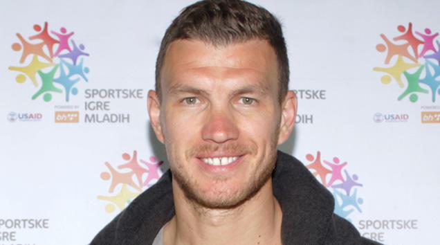 Edin Džeko, igrač AS Roma i Ambasador Sportskih igara mladih